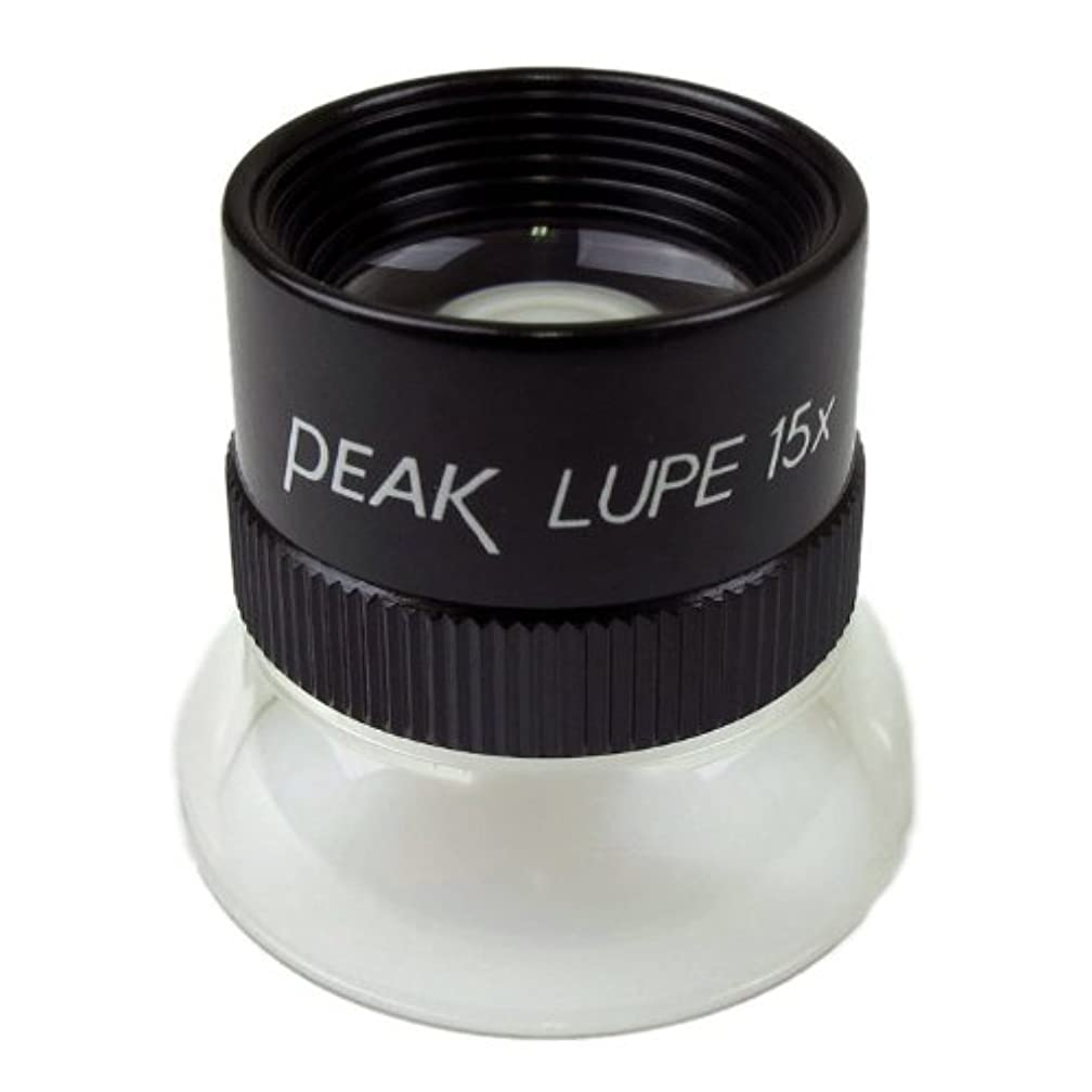 PEAK TS1962 Fixed Focus Loupe, 15X Magnification, 0.75