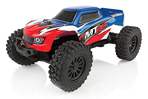 Team Associated 20155 MT28 Monster Truck Ready to Run, 1/28 Scale 2WD, with Battery, Charger & 2.4Ghz Transmitter