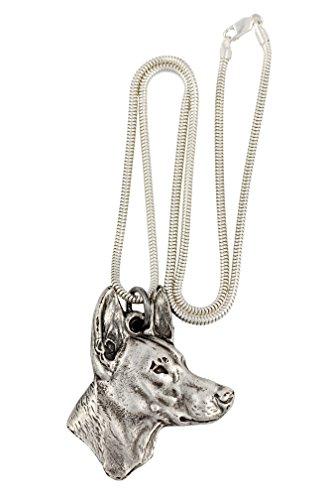 Pharaonenhund, Hund Halskette, Silberne Kette 925, Limitierte Auflage, ArtDog