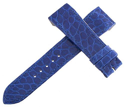 Jaeger Lecoultre Reverso OEM blu Alligatore pelle Watch cinturino 19mm x...