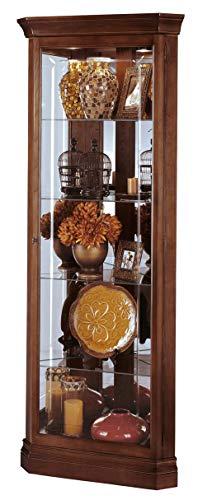 Howard Miller Lynwood Corner Curio Cabinet 680-345 – Windsor Cherry Glass Case with Light