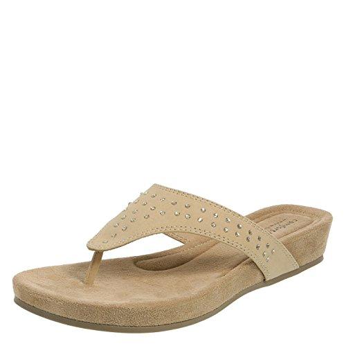 Predictions Comfort Plus Tan Women's Shirley Wedge Sandal 11 Regular