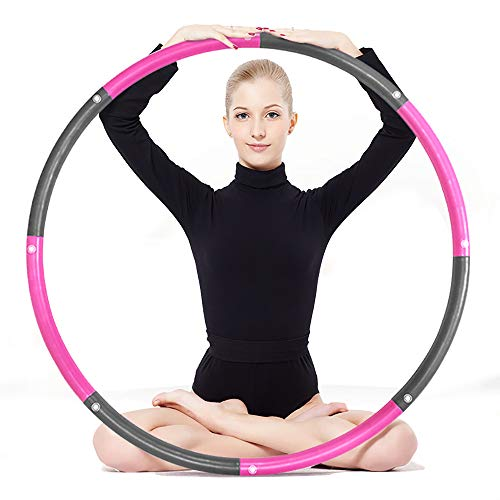 leofit Weighted Hula Hoops for Adults Exercise Removable Multiple Assembly Design Professional Fitness Hula Hoop Brings Perfect Figure