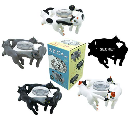 Kitan Club Fidget SpiMeow Plastic Toy - Blind Box Includes 1 of 5 Collectable Figurines - Fun, Versatile Decoration - Authentic Japanese Design - Made from Durable Plastic