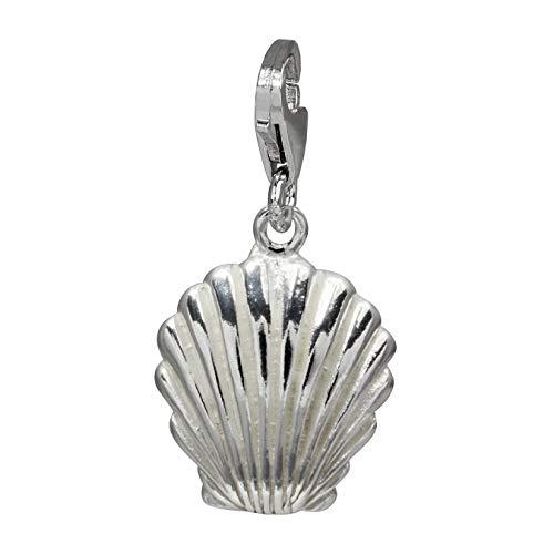 SilberDream Charm Schmuck 925 Echt Silber Armband Anhänger Muschel FC728I