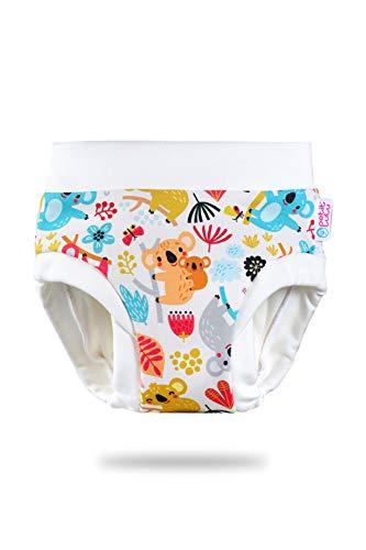 Petit Lulu Sur-culotte d'apprentissage pour bébé - Taille M (11,5-16 kg) - Lavable et réutilisable - Fabriqué en UE (Koala)