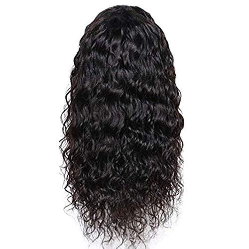 Damenperücke, lang, lockig, hitzebeständig, synthetisch, klebefrei, Lace-Front-Perücke, 55,9 cm