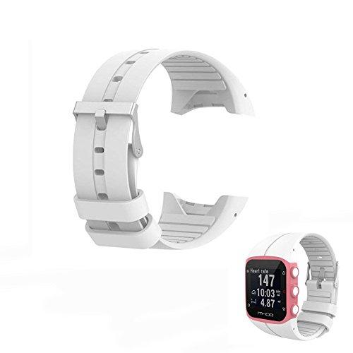 Hensych® - Correa de muñeca de repuesto para reloj Polar M400, M430, reloj para correr con GPS, color blanco