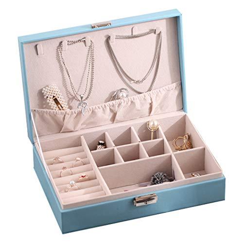 COSYOO Caja de Almacenamiento de Joyas Caja Organizadora de Joyas de Moda Caja de Soporte de Joyería Caja de Almacenamiento Colgante de Pendientes de Auricular de Gran Capacidad