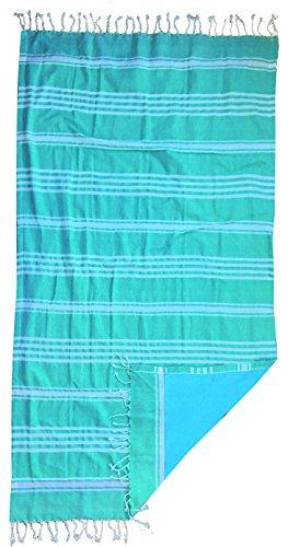 Textil Tarragó Fluor Toalla Pareo, Algodón, Amarillo, 27x38x3 cm