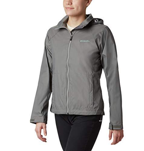 Columbia Women's Plus Size Switchback III Adjustable Waterproof Rain Jacket, city grey, 2X