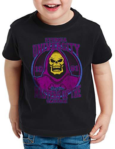 style3 Eternia University T-Shirt für Kinder he Masters Universe Man Skeletor Anime, Größe:140