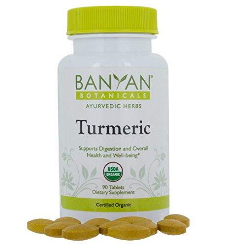 Banyan Botanicals Turmeric Tablet Supplement, USDA Organic, 90 Count - Supports Digestion, Overall Health and Well-Being