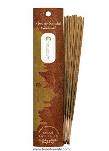 Fiore D'Oriente 10 Bâtonnets d'Encens Natural 100% Sandal