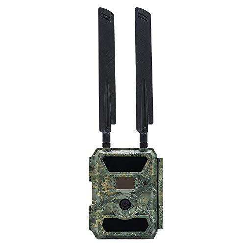 PNI Hunting 400C Wildkamera 4G LTE Foto- und Videofalle mit Bewegungsmelder Nachtsicht 12MP 1080P Full HD 100° Weitwinkel mit Internet, Foto&Video am Telefon, E-Mail Infrarot No Glow LEDs und IP66