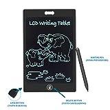 LSP Tavoletta Grafica LCD Scrittura, 8,5 Pollici Con Schermo, per Appunti, con Pennino, Lavagna Portatile Ewriter, Idea Regalo, Scuola, Ufficio, Nero Black