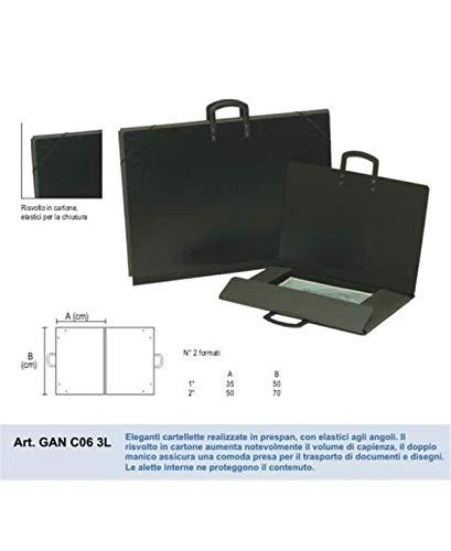 MORGANTINA Cartella in Prespan 50x70 con Elastici Nero