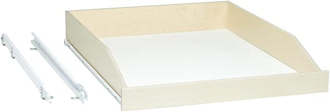 """Slide-A-Shelf SAS-STD-L-B, Made-To-Fit Slide-out shelf, 3/4 Extension, 6"""" to 36"""" wide and 16 3/4"""