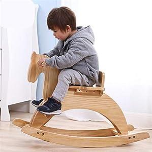 Bebé Caballo de balancín Mecedora de madera Silla de balancines para niños pequeños Silla de balancines para bebés Regalo para niños Hasta 1 año Bebé