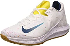 Nike W Nikecourt Air Zoom Zero HC, Zapatilla de Tenis para Mujer, White Valerian Blue Oracle Aqua OPTI Yellow Wheat, 42 EU