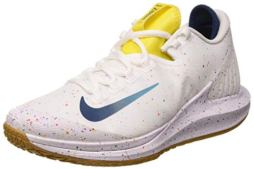 Nike Court Air Zoom Zero HC, Zapatilla de Tenis Mujer, White Valerian Blue Oracle Aqua OPTI Yellow Wheat, 42 EU