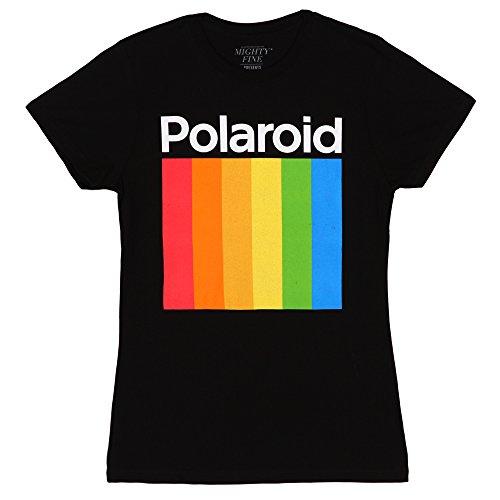 Licensed Polaroid Stripe Logo Junior Fit Female T-Shirt, XS to XL