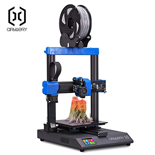 Artillery Genius 3D Printer, 2019 Newest Ultra-Quiet High-Precision Dual Z-Axis 98% Integrity TFT Screen Filament Runout Sensor & Power Failure Recovery 3D Printing, 220 x 220 x 250 mm