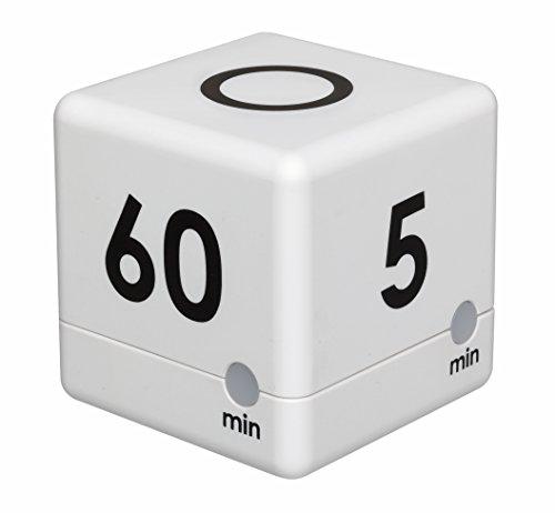 TFA Dostmann 38.2032.02 Digitale Cube Timer, tijdblokjes, stopwatch, 6 x 6 x 6 cm, wit