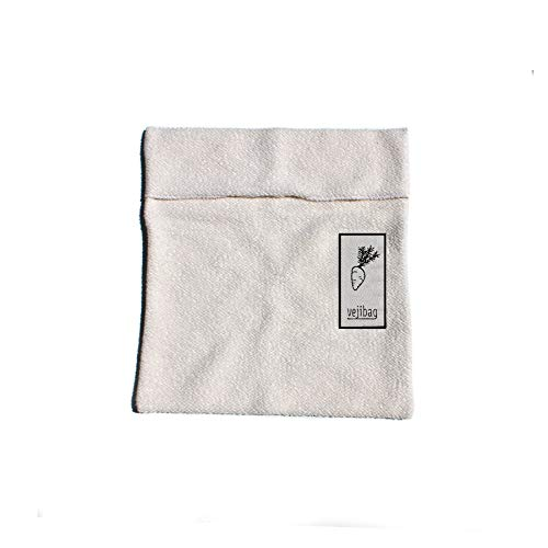 Standard Vejibag, Organic Cotton Vegetable Crisper Bag (Single Bag,11 inches X 12 inches)