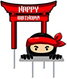 Ninja Birthday Cake Topper 2pc Boys and Girls Karate Martial Arts Party Decorations
