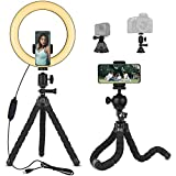 Emart 10'' Selfie Ring Light with Flexible Tripod Stand with Bluetooth for Live...