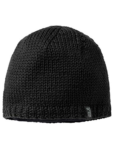 Jack Wolfskin Herren Mütze Stormlock Knit, black, M, 1901961-6000003