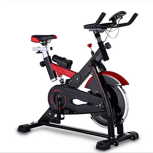 HY-WWK Bicicleta Estática para Interiores, Bicicleta Giratoria Pantalla Lcd Silenciosa Resistencia Ajustable Viga Principal Engrosada Adecuado para Ejercicio Aeróbico en Interiores, Negro,Negro