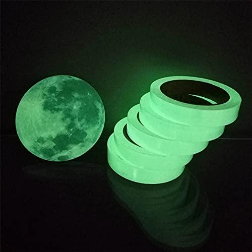 Etiqueta engomada de la pared de la tira luminosa de la familia, cinta luminosa autoadhesiva que brilla en la oscuridad, pegatinas de vinilo verde fluorescente, DIY fluorescente piso coche (5 m)