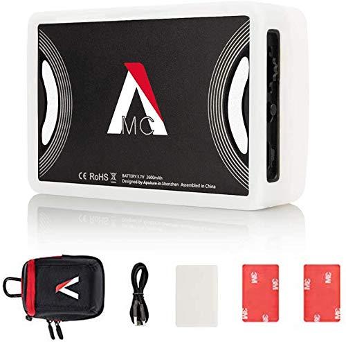 Aputure MC RGBWW-Filmlicht mit vollständiger HSI-Farbsteuerung und einem CCT-Bereich von 3200K-6500K, MC Mini-LED-Licht für Videoaufnahmen Mit USB-C PD und Qi Wireless Charging