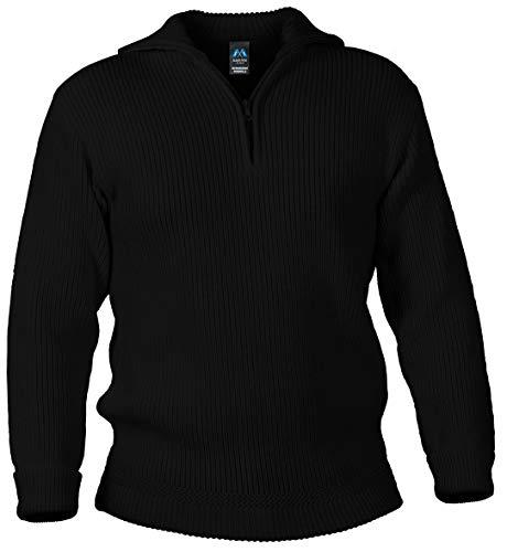 Blauer Peter - Merino Troyer - Pullover - 8 Farben, Farbe:Schwarz, Größe:44