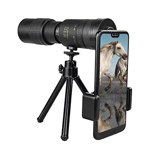 decaden 4K 10-300X40MM Super-Telezoom-Monokular-Teleskop Vogelbeobachtung Wasserdicht für Smartphones Vogelbeobachtung/Jagd/Camping