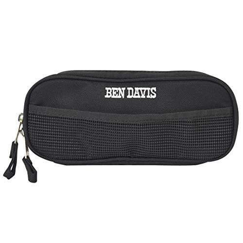 [ベンデイビス] BEN DAVIS ペンケース 大容量 シンプル 変形 筆箱 メンズ 男の子 ペンポーチ おしゃれ 化粧ポーチ レディース 黒