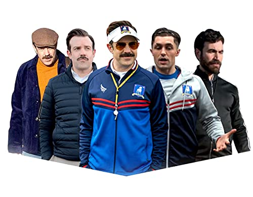 Ted Lasso Track Jacket Active - Jason Sudeikis Sports Ted Lasso Jacket - Football Coach Blue Wool Jacket for Men