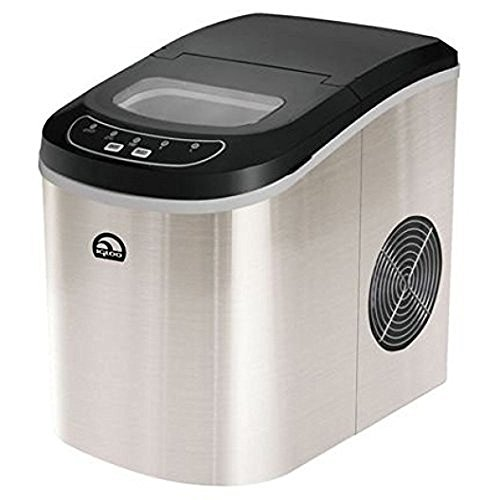 All Goodly Stainless Steel 26 lbs Igloo Compact Countertop Ice Cube Maker Machine (Stainless Steel)