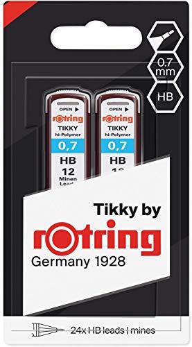Las Rotring minas Hi-Polymer y su fórmula extrafuerte son una sólida base en la que se puede basar Estas minas, que están disponibles en 2H, H, HB, B y 2B, son unos accesorios profesionales que permiten todos los estilos y matices en bocetos, escrito...