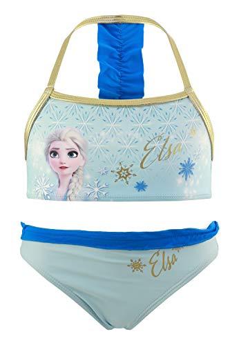 Frozen Movie Disney – Disfraz de bikini de 2 piezas para playa o piscina – Producto original con licencia oficial 1859 Azul 6 años