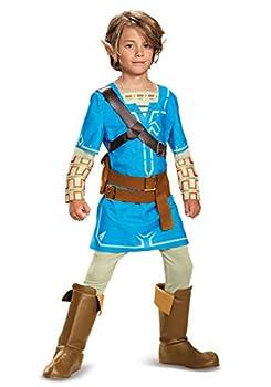 Legend of Zelda Breath of the Wild Link Deluxe Boys Costume  7/8