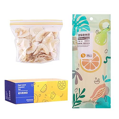 Bolsas de almacenamiento de alimentos, reutilizables a prueba de fugas, bolsas de almacenamiento de alimentos, bolsas transparentes Ziplock para frutas, verduras, aperitivos, carnes, cereales.