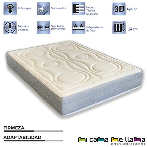 MI CAMA ME LLAMA ESPECIALISTAS EN DESCANSO Colchon Muelles Ensacados Reversible Viscoelastico Multicapas (105x190)