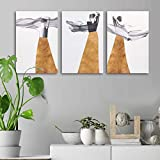 The Package Contains: Set of 3 eye catching gallery wrap rectangle painting. Material of the Product: High Quality canvas with gallery wrapped and stretched with wooden frame on the back. Ready to Hang: Mounting hardware is included, just take it out...