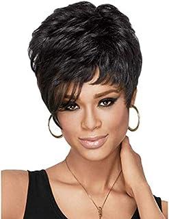 European and American fashion black wig short hair fluffy teen short hair M19-310