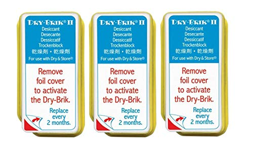 Dry-Brik® II Desiccant Blocks - 3 Blocks (1 Pack of 3 Blocks)| Replacement Moisture Absorbing Block for the Global II and Zephyr by Dry & Store | Hearing Device Dehumidifiers