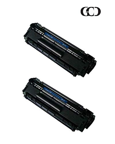 2 Pack of Replacement Black Toners for HP 12A, Q2612A, Q2612X, 12X, FX9, FX10 & Canon 104; Laserjet 1010/1012 / 1015/1018 / 1020/1022 / 3015