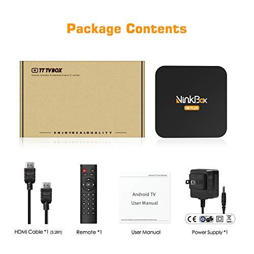 Android TV Box 4G+64G unterstützt 8K, NinkBox Android 9.0 TV Box N8 Plus Amlogic S905X3 Quad-Core 64bit Cortex-A55, Smart TV Box Set-top-Box für Bluetooth 4.0/WLAN 2.4G/5.0G/USB 3.0/Ethernet 100M
